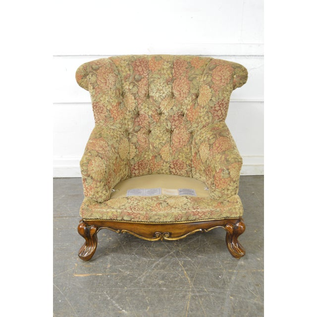 Schnadig Compositions French Louis XV Style Tufted Bergere Lounge Chair - Image 9 of 10