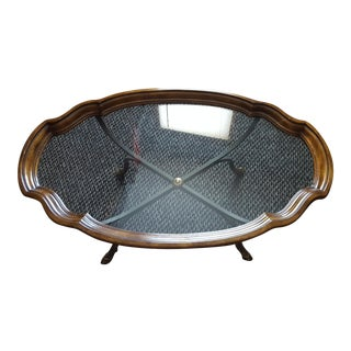 Vintage Oval Tray Style Coffee Table by Drexel