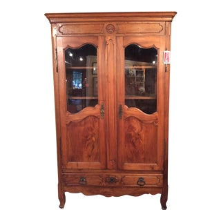 Vintage French Walnut Bibliotheque
