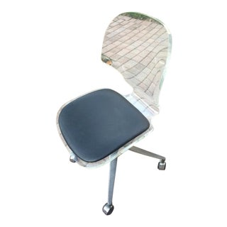 Lucite & Chrome Swivel Desk Chair