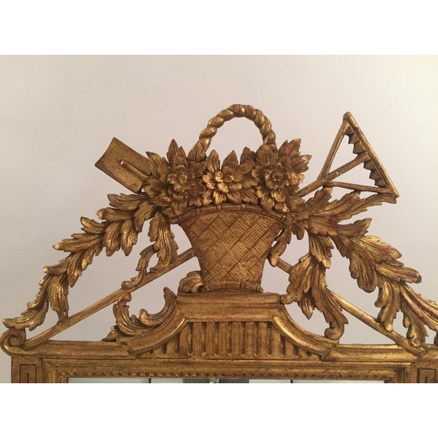 Neoclassical Gold Leaf Mirror - Image 5 of 11