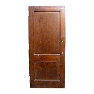 Traditional Mahogany Two Panel Door