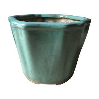"Vintage Celadon Chinoiserie Style Planter-13"""