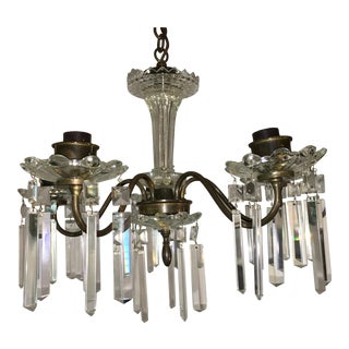 Vintage Art Deco Crystal Chandelier