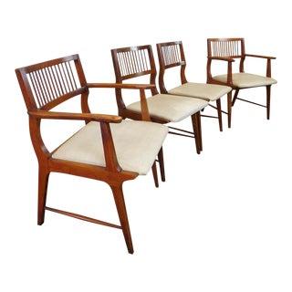 Vintage Lane Furniture Walnut Dining Chairs - Set of 4