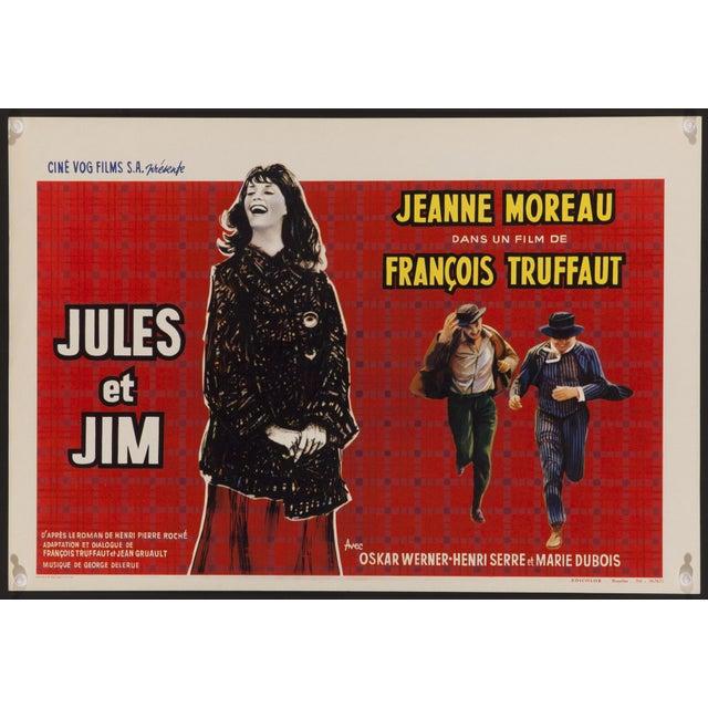 """""""Jules Et Jim"""" Belgian Film Poster - Image 1 of 2"""