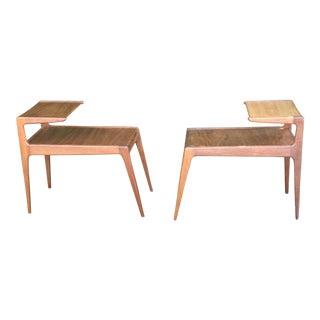 Kurt Ostervig Teak Side Step Tables - A Pair