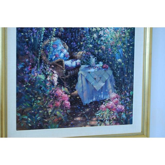 "Oil on Canvas - Paul Matthews ""Trellished Path"" - Image 5 of 7"