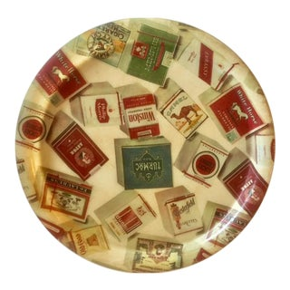 Retro Tray With Cigarette Pack Theme