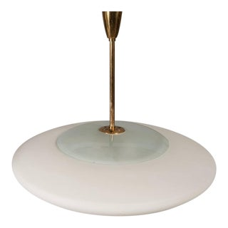 Fontana Arte Opaline Pendant Lights - A Pair