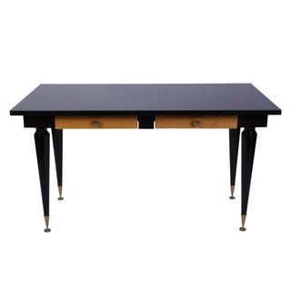 1930's French Art Deco Desk With Macassar Ebony Top