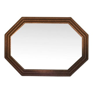 Wicker Framed Wall Mirror