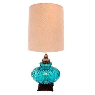 Vintage Aqua Blue Lamp