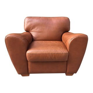 Oversized Italian Leather Club Chair