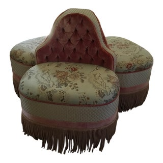 French Three-Seater Conversation Settee