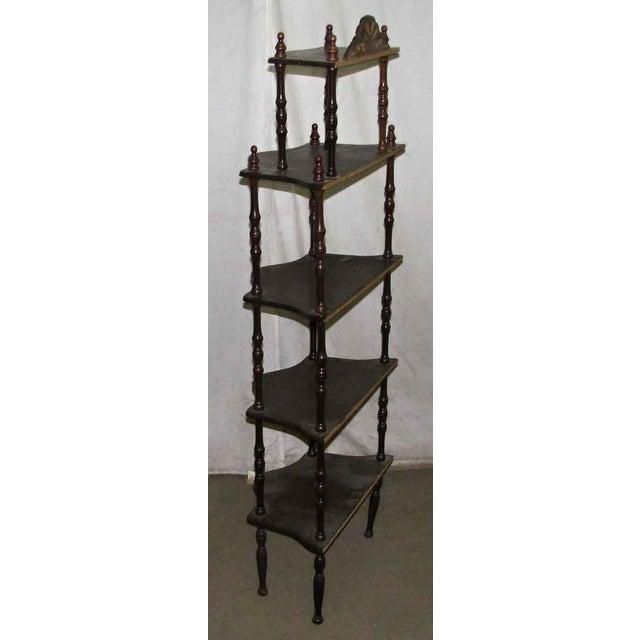 Dark Wooden 5 Tier Shelf - Image 9 of 10