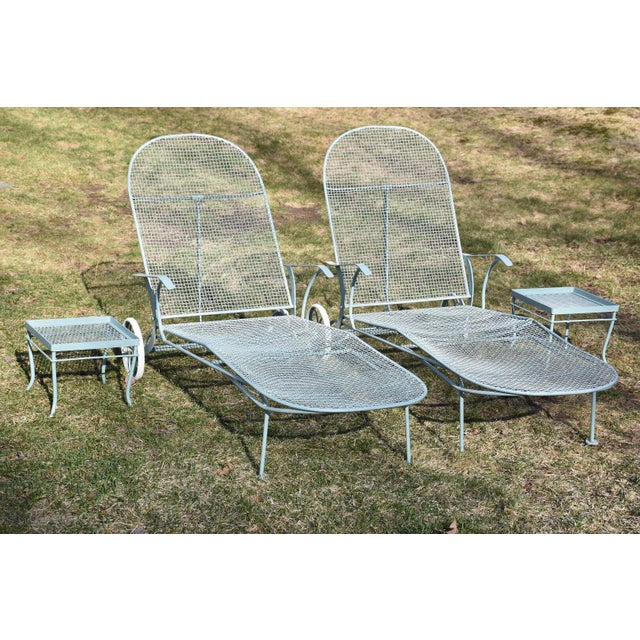 Russell Woodard Sculptura Patio Chaise Lounges - A Pair - Image 10 of 11