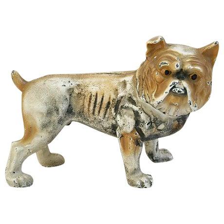 Cast Iron Bull Dog Bank/Door Stop - Image 1 of 8