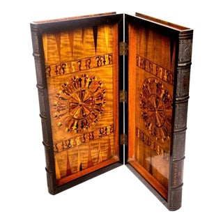 Fine Anglo-Indian Specimen Faux-Book Games Box, 19th Century
