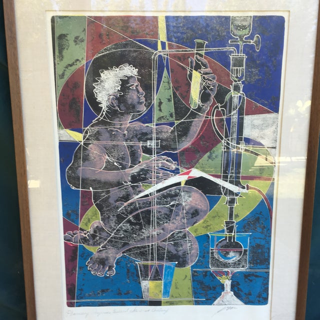 Mid-Century Signed Hans Erni Lithograph - Image 6 of 11
