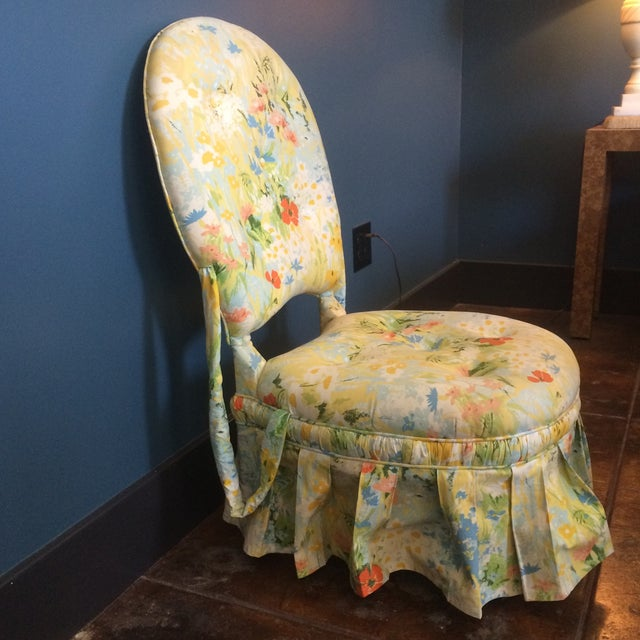 Vintage Floral Folding Chair - Image 5 of 9