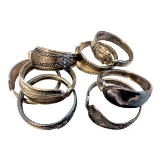 Antique Silver Plate Napkin Rings - Set of 6