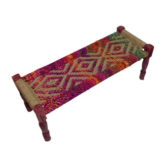 Coco Multicolored Woven Bench