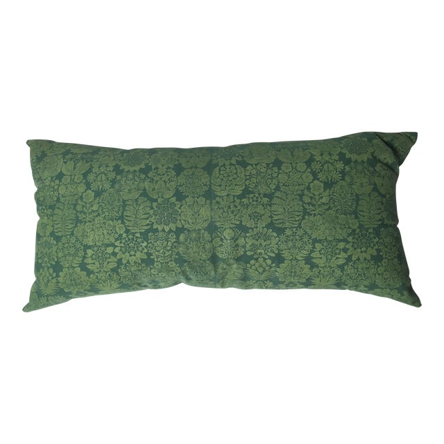 Folly Cove Designers Hand Block Printed Pillow with US State Flowers - Image 1 of 8