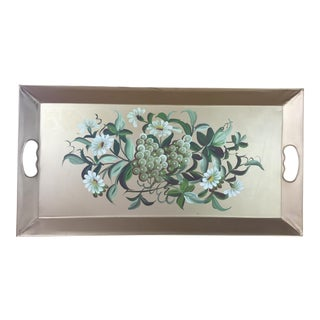 Gold Floral Fruit Tole Tray