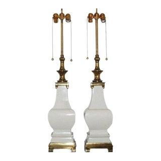Stiffel Crackle Glazed Lamps