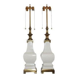 Stiffel Crackle Glazed Lamps