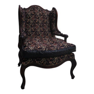 Old Hickory Tannery Peacock Tapestry Chair