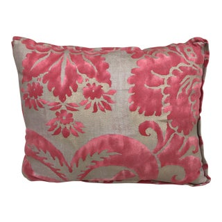 Fortuny Custom Pink & Gold Cotton & Silk Pillow