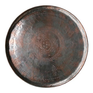 Antique Engraved Turkish Copper Tray