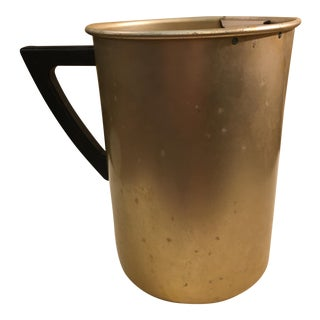 Mid-Century Gold Aluminum Pitcher