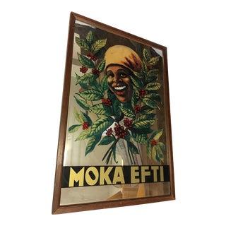 Moka Efti Coffee Advertising Mirror