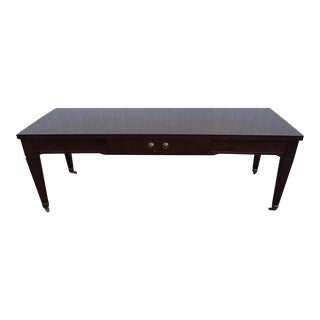 Mersman Formica Mahogany Top Wood Coffee Table