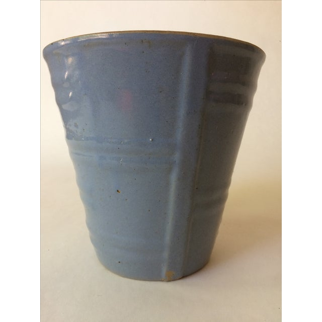 Image of Machine Age Blue-Grey Flower Pot