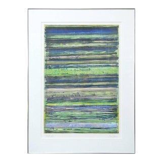 Geometric Abstract Signed Numbered Lithograph Print
