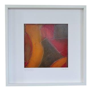 Atmospheres, Orange/Red Framed Painting