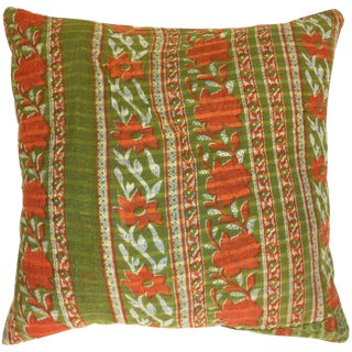 Vintage Kantha Pillow Cover 16""