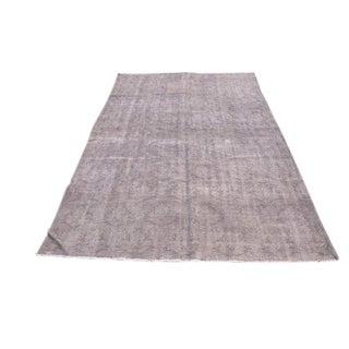 Turkish Handmade Oushak Gray Wool Floor Rug - 5′8″ × 8′5″