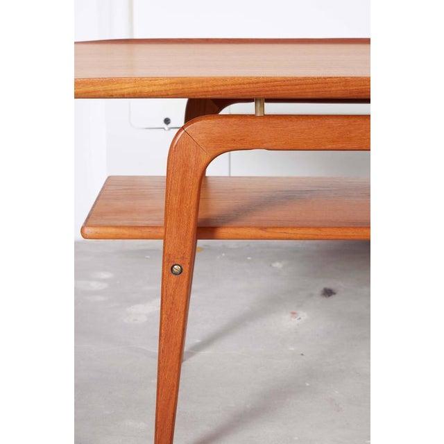 Danish Coffee Table with Shelf - Image 3 of 6