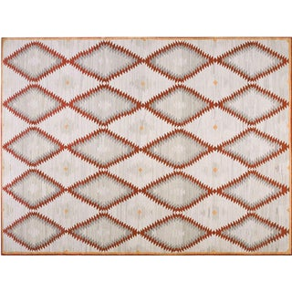 Contemporary Navajo Style Wool Rug - 8′ × 10′
