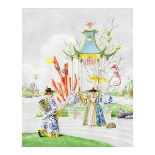 """At the Tea Pavilion"" Giclée Print"