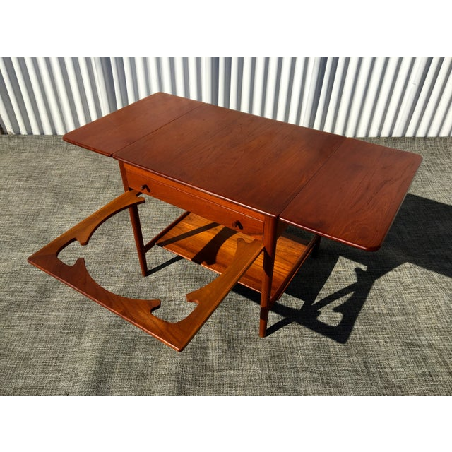 Danish Modern Hans Wegner Sewing Table A33 - Image 6 of 7
