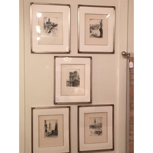 Image of R. Stephens Wright Signed Etchings - A Set
