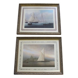 Framed Nautical Prints by Tim Thompson - A Pair