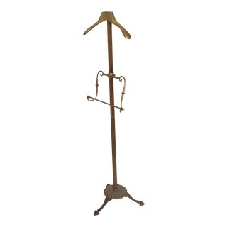 Brass Gentleman's Valet Hollywood Regency Era Coatrack