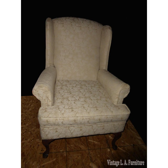 Vintage French Country Wingback Chair - Image 2 of 11